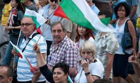 Bill 4 Venlige demonstranter Sofia Bulgarien 2013 (cropped)