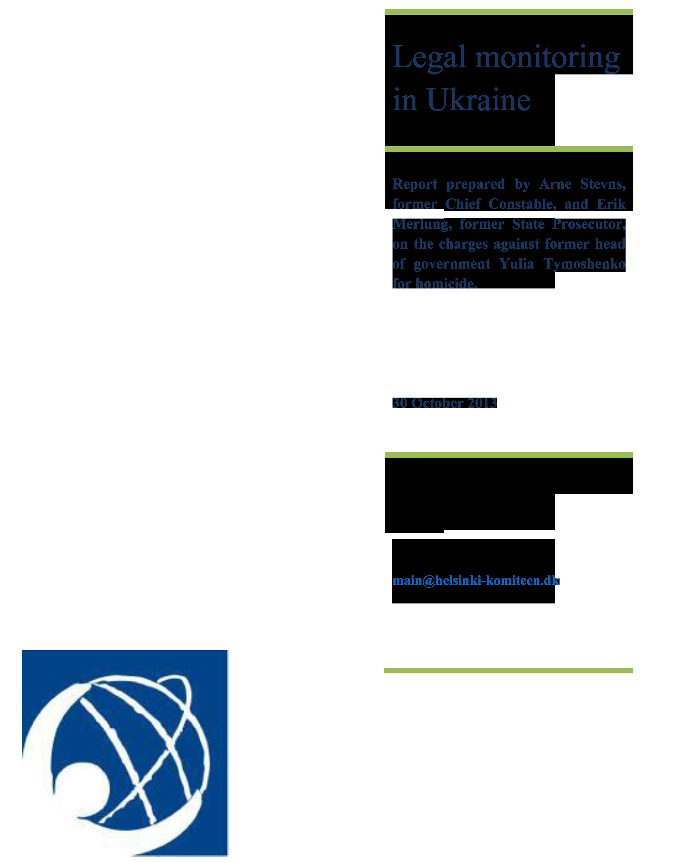Legal Monitoring in Ukraine Oct 2013